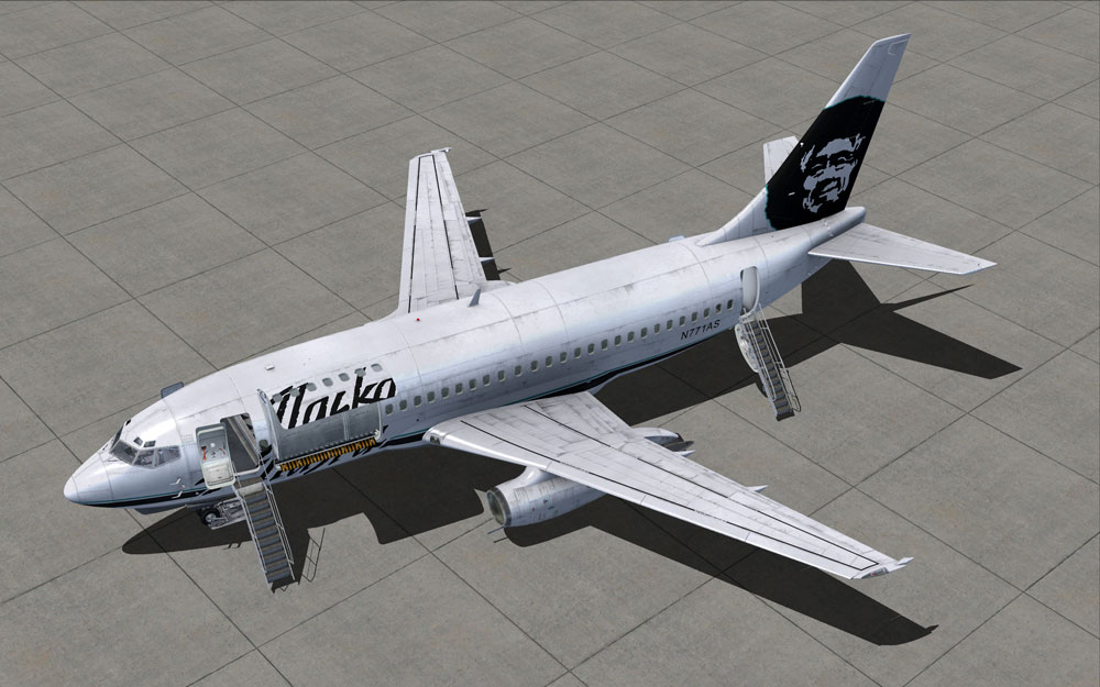 MILVIZ flight simulations - 737-200 Combi