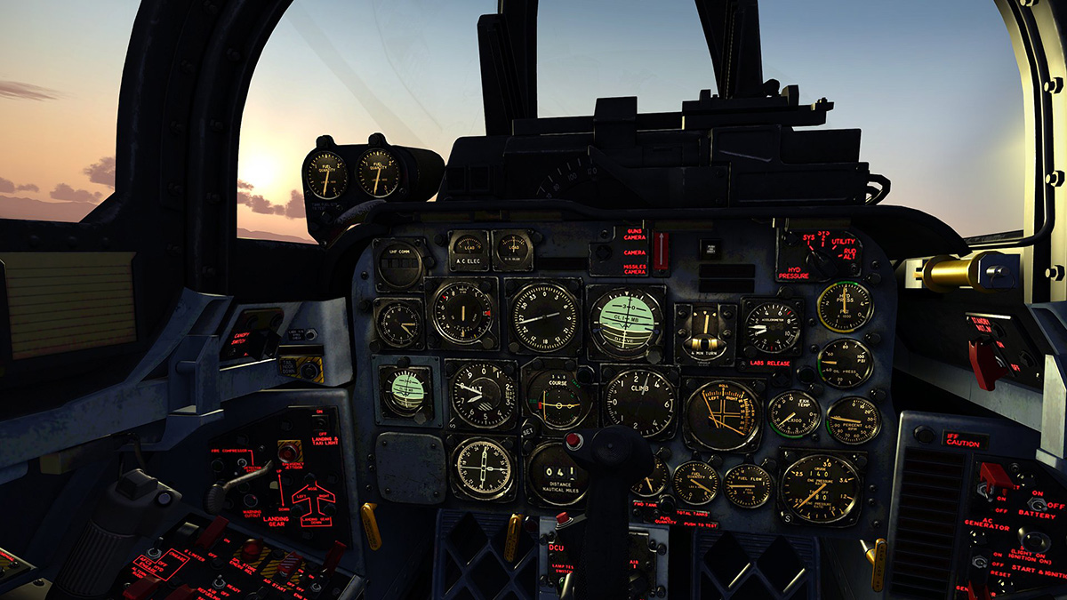 MILVIZ flight simulations - F-100D Super Sabre