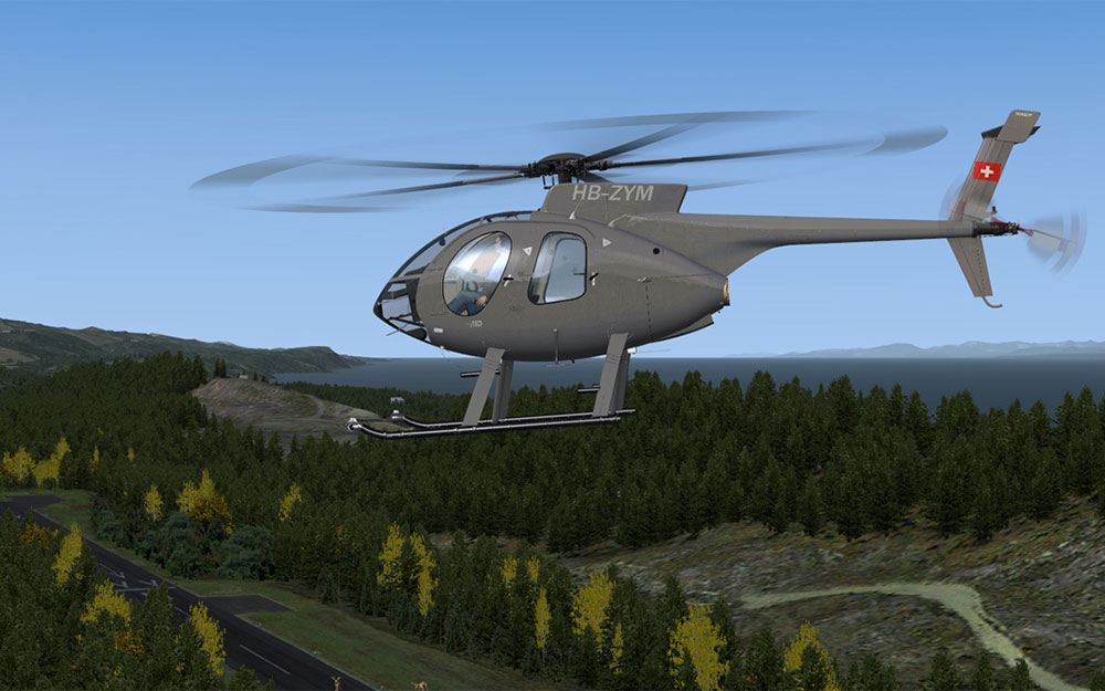 MILVIZ flight simulations - MD 530F