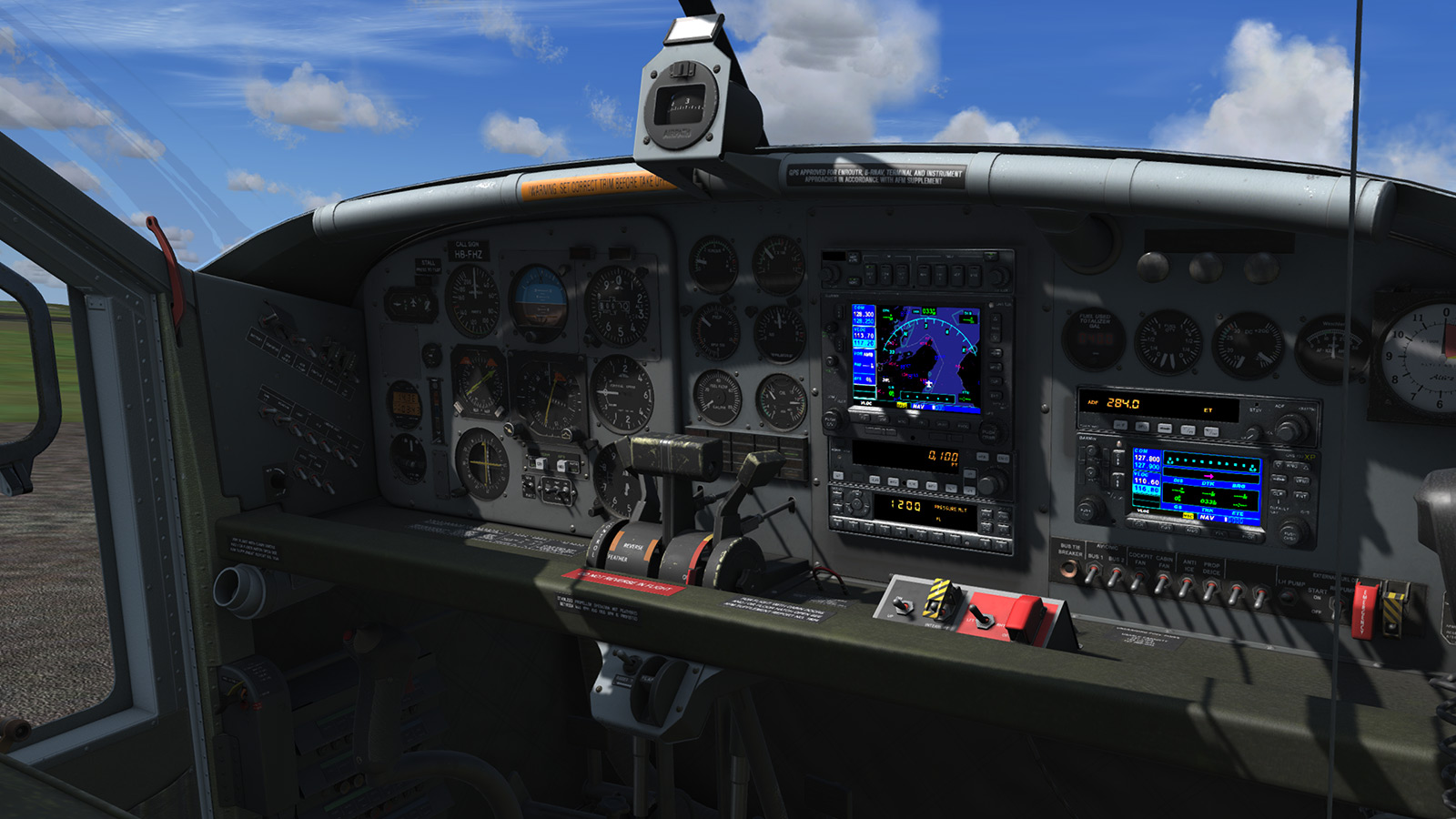 MILVIZ flight simulations - PC-6 Porter
