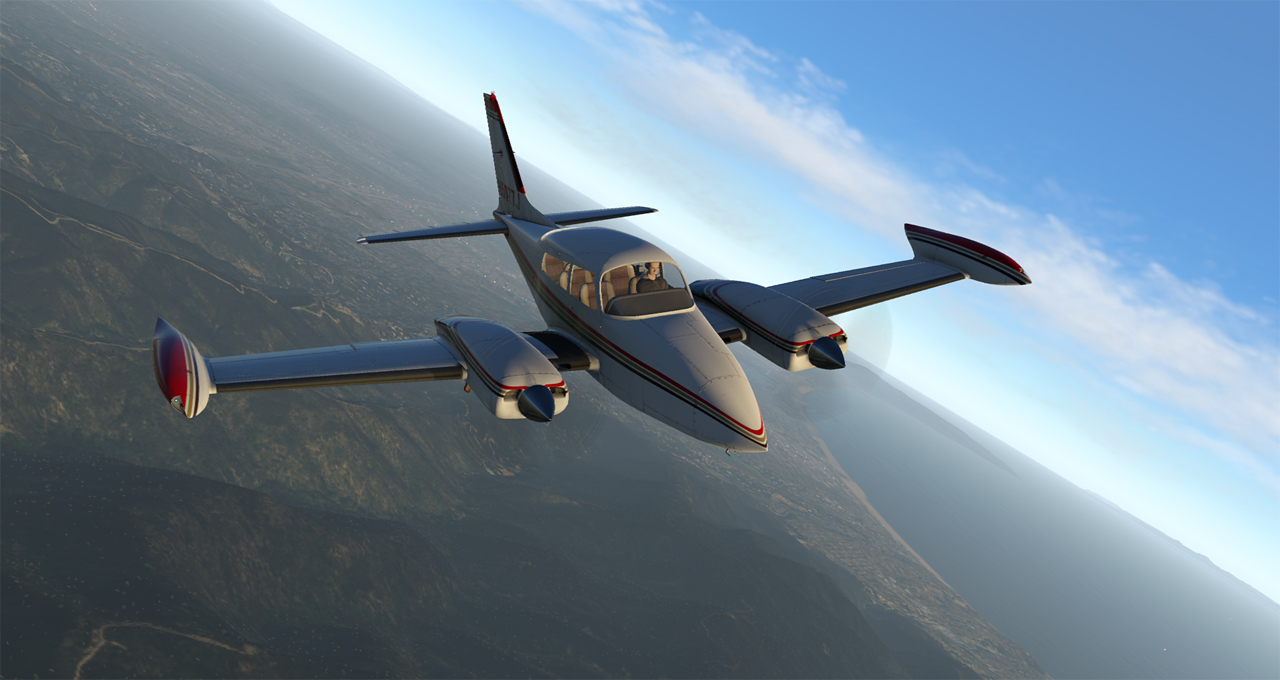 MILVIZ flight simulations - T310R XP